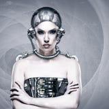Donna del cyborg fotografia stock libera da diritti