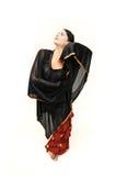 Donna del danzatore di flamenco Fotografia Stock