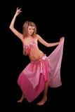 Donna del danzatore di pancia Fotografia Stock