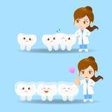 Donna del dentista di medico del fumetto Immagine Stock
