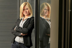 Donna del dirigente di Youg Fotografie Stock Libere da Diritti