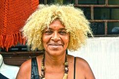 Donna del dominicano di afro Immagini Stock
