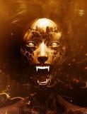 Donna del fantasma che grida nel legno illustrazione vettoriale