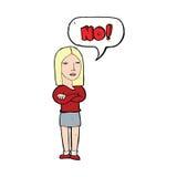 donna del fumetto che dice no Immagini Stock