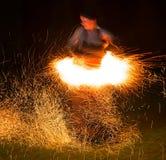 Donna del fuoco Immagini Stock