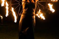 Donna del fuoco Fotografie Stock
