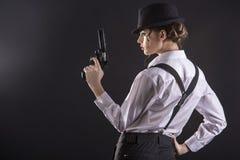 Donna del gangster Immagini Stock Libere da Diritti