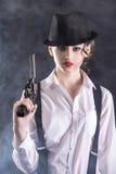 Donna del gangster Fotografie Stock
