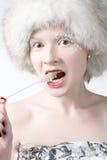 Donna del ghiaccio fotografia stock