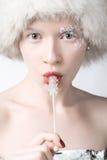 Donna del ghiaccio immagini stock libere da diritti