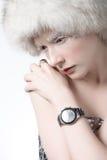 Donna del ghiaccio fotografia stock libera da diritti