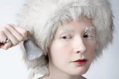Donna del ghiaccio fotografie stock