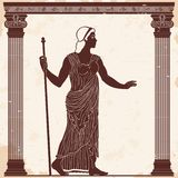 Donna del greco antico illustrazione vettoriale