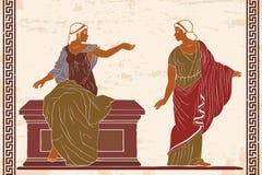 Donna del greco antico illustrazione di stock