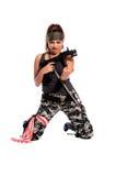 Donna del guerriero Fotografia Stock Libera da Diritti