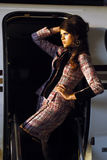Donna del latino-americano di modo fotografia stock