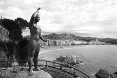 Donna del mare a Lloret de Mar Mujer Marinera Fotografie Stock Libere da Diritti