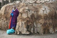 Donna del Masai fotografie stock