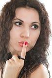 Donna del modello di modo con i capelli saltati Immagini Stock Libere da Diritti