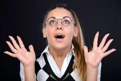 Donna del nerd fotografia stock