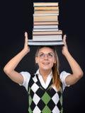 Donna del nerd fotografie stock