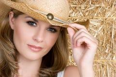 Donna del paese Fotografia Stock
