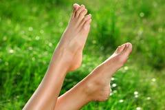 donna del piede Fotografie Stock