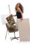 Donna del pittore Fotografia Stock Libera da Diritti