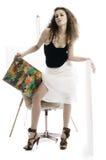 Donna del pittore Immagini Stock Libere da Diritti