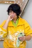 Donna del pittore Fotografia Stock