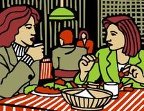Donna del ristorante illustrazione vettoriale