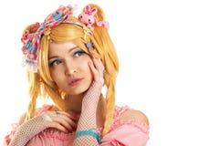 Donna del ritratto del carattere della bambola di Lolita giovane Fotografia Stock Libera da Diritti