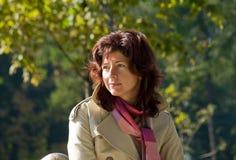 donna del ritratto di giorno di autunno Fotografie Stock Libere da Diritti