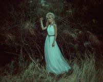 Donna del ritratto in foresta Fotografie Stock Libere da Diritti