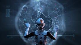 Donna del robot, donna di fantascienza video d archivio