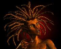 Donna del serpente Fotografia Stock Libera da Diritti