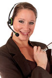 Donna del servizio d'assistenza che comunica Fotografia Stock Libera da Diritti