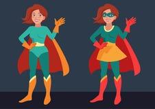 Donna del supereroe royalty illustrazione gratis