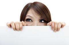Donna del tabellone per le affissioni Fotografia Stock