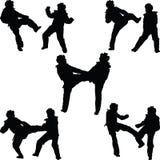 Donna del Taekwondo illustrazione vettoriale