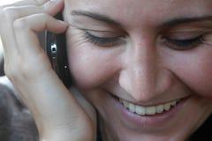 Donna del telefono Immagini Stock Libere da Diritti