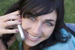 Donna del telefono fotografia stock