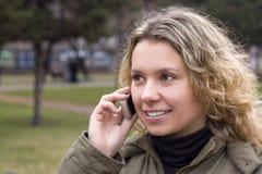 donna del telefono immagini stock
