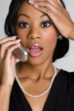 Donna del telefono fotografia stock libera da diritti
