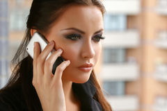 donna del telefono Fotografie Stock