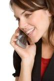 Donna del telefono delle cellule Fotografie Stock