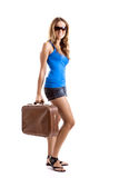 Donna del viaggiatore Fotografia Stock