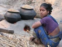 Donna del villaggio Immagini Stock Libere da Diritti