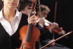Donna del violinista Fotografie Stock