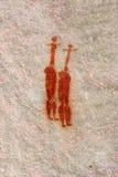 Donna dell'aborigeno dei due Africani. illustrazione del boscimano Fotografia Stock Libera da Diritti